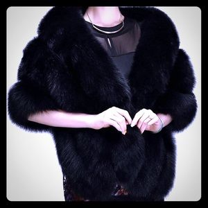 Black Shawl - Fake Fur